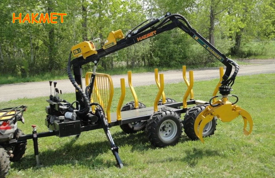 Hakmet ATV Log Loader with Trailer and Winch
